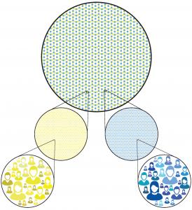 Image demonstrating population heterogeneity